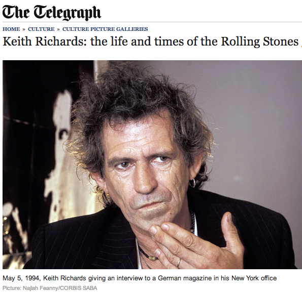 THE TELEGRAPH | Keith Richards