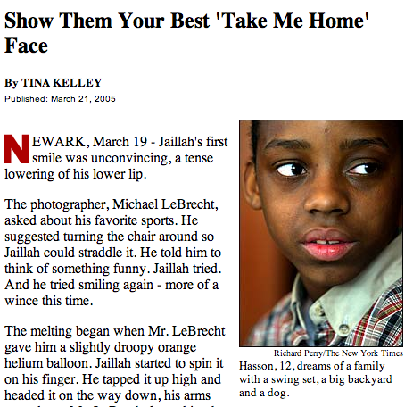 "NY TIMES | Show Them Your Best ""Take Me Home Face"""
